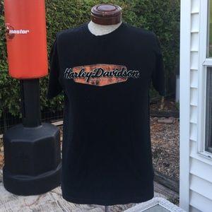Harley Davidson Men's Black T-shirt. Medium